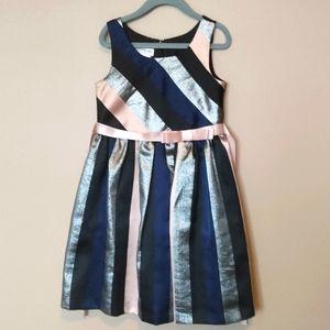 Bonnie Jean Girls Size 6 Dress Glitter Stripes